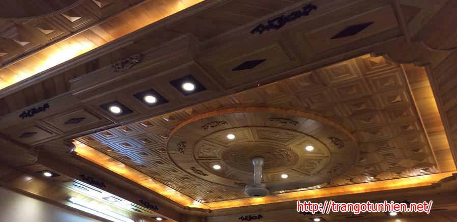 trần gỗ tự nhiên