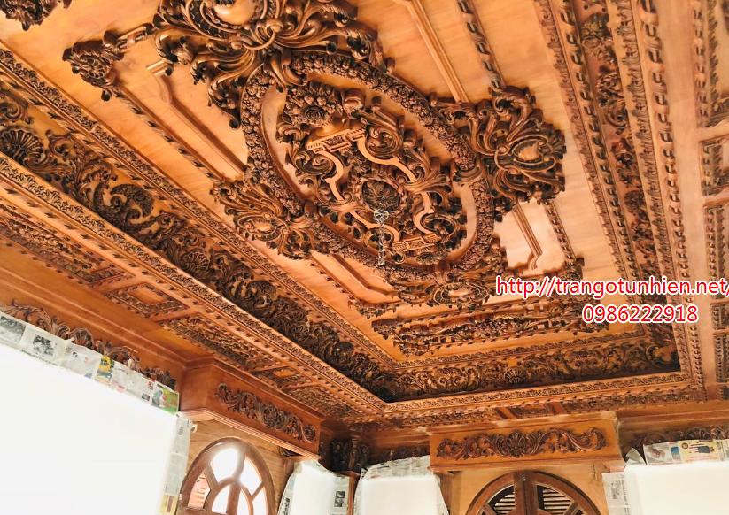 trần gỗ cổ điển đẹp tại hà nam