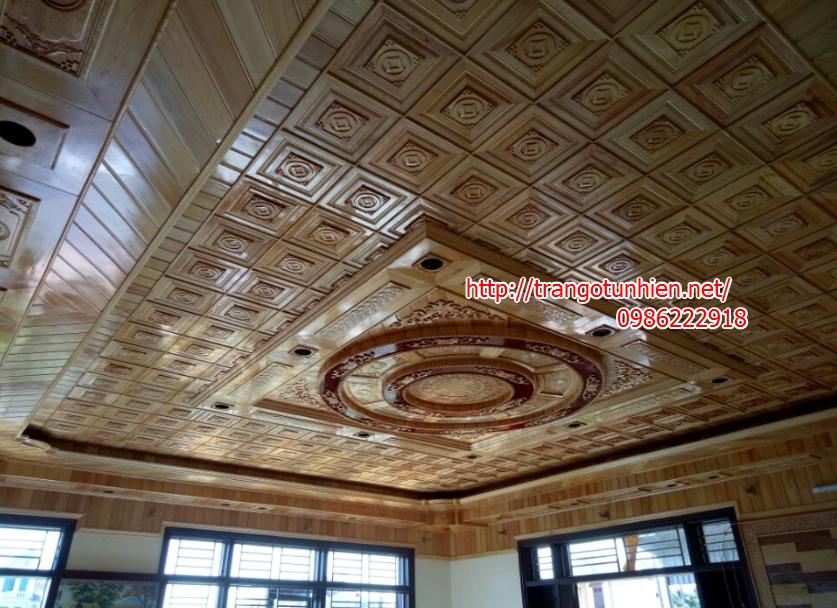 trần gỗ pomu đẹp